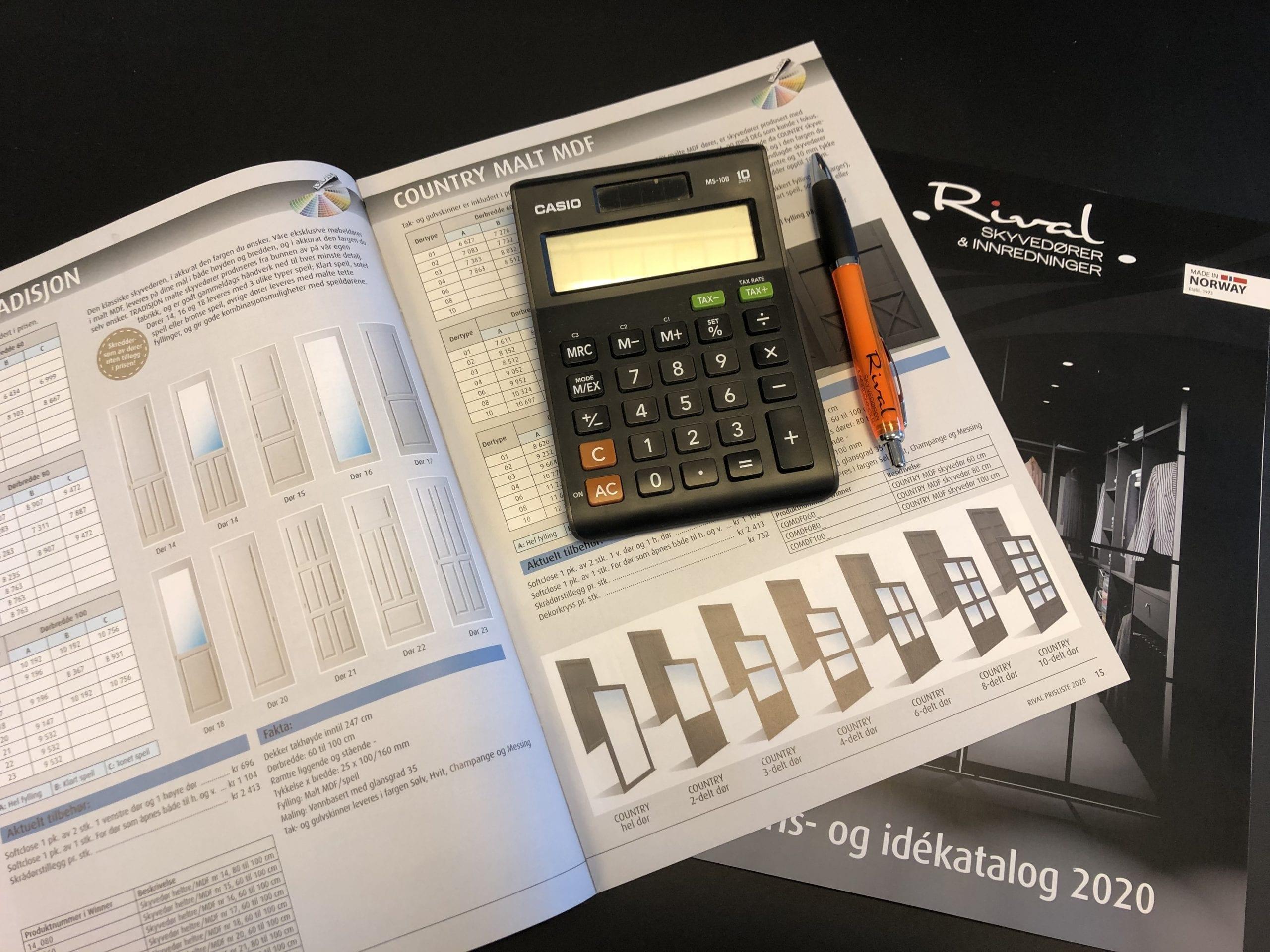 Ny Rival nettkalkulator! – Les mer om hvordan du raskt kan kalkulere prisen på din garderobe!